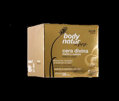 Divine cera microonde a caldo viso/corpo con oro