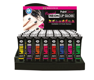 Lipgloss fruits (8 frutti) neon uv expo 48pz