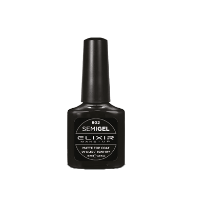 Smalto semipermanente semi-gel/ matte top coat